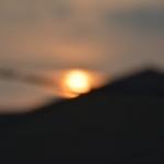 夕日の写真(ちょいぼやけ)